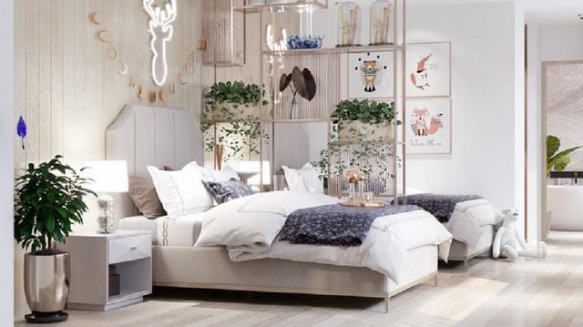 Phòng ngủ là không gian mở với ánh sáng chan hòa