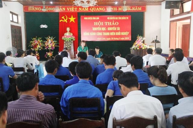 """Hàng trăm thanh niên tham gia Hội thảo """"Khuyến học, khuyến tài đồng hành cùng thanh niên khởi nghiệp"""""""
