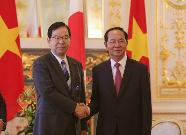 Chủ tịch nước Trần Đại Quang tiếp thân mật Chủ tịch Đảng Cộng sản Nhật Bản Kazuo Shii