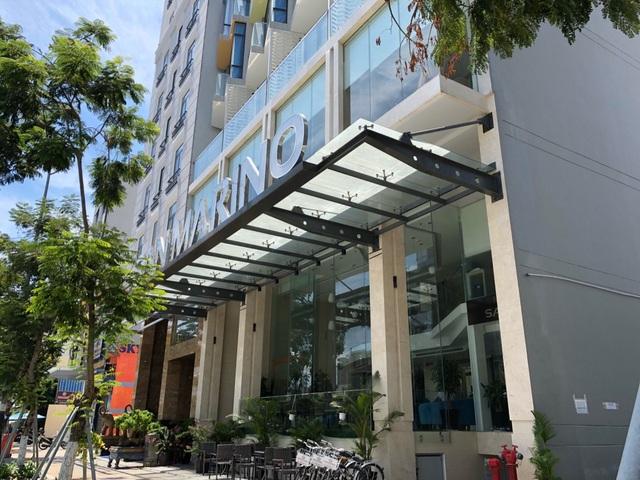 Khách sạn San Marino - một trong 3 công trình được lực lượng chức năng của Sở Xây dựng và chính quyền quận Sơn Trà (Đà Nẵng) phát hiện và tiến hành xử phạt do xây dựng trái phép