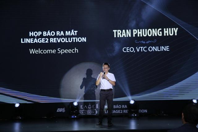 Ông Trần Phương Huy - CEO VTC Online phát biểu tại lễ công bố.