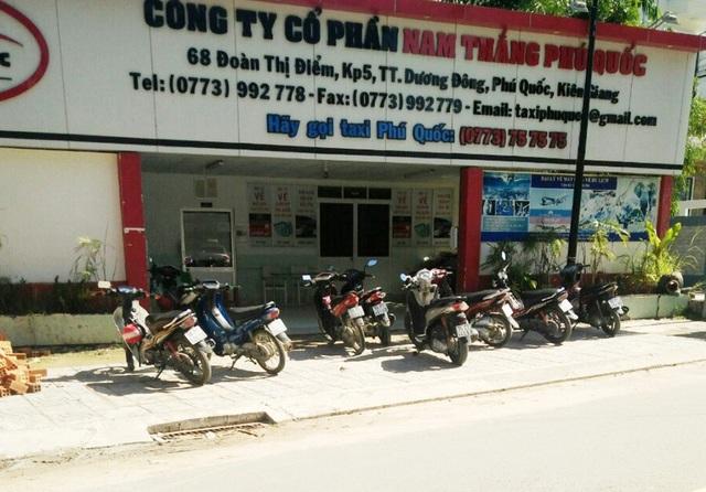 Hiện trường xảy ra sự việc ông Lê Huy Lý - Phó giám đốc công ty cổ phần Nam Thắng Phú Quốc nổ sung thị uy vào ngày 28/5