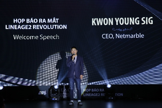 Ông Kwon Young Sig – CEO của Netmarble lên phát biểu tại Việt Nam