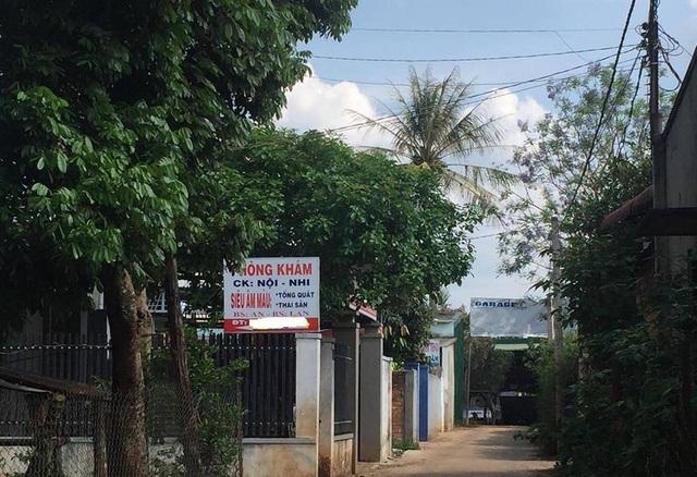 Phòng khám bệnh nơi xảy ra sự cố