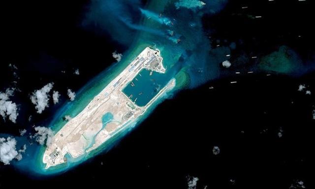 Đá Chữ Thập, nơi Trung Quốc được cho là đã triển khai trái phép tên lửa (Ảnh: AFP)