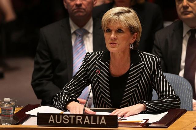 Ngoại trưởng Australia Julie Bishop (Ảnh: AFP)