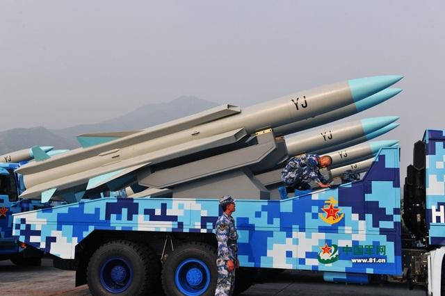 Một tổ hợp tên lửa chống hạm YJ-12 của Trung Quốc (Ảnh: National Interest)