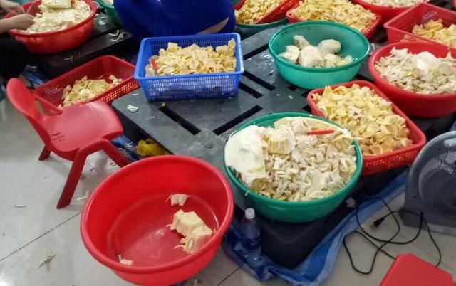Hàng trăm ký nguyên liệu không rõ nguồn gốc xuất xứ được phát hiện tại cơ sở chế biến chè ở phường Hòa Minh, quận Liên Chiểu