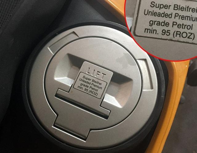 Khuyến cáo dùng nhiên liệu trên mẫu môtô BMW F800 GS