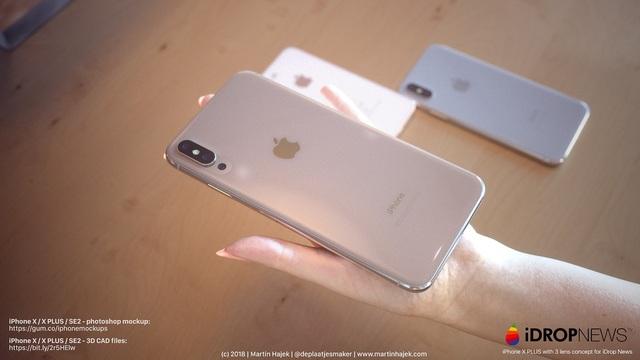 iPhone X Plus, dự sẽ có camera thứ 3 bên dưới cặp camera kép