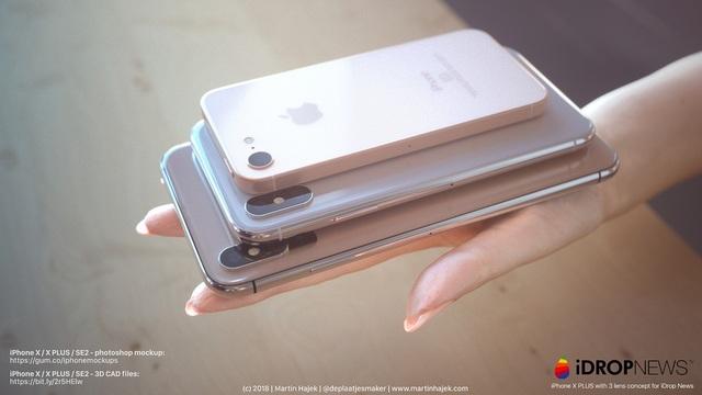 Bộ ba iPhone mới theo ý tưởng của nhà thiết kế Martin Hajek.