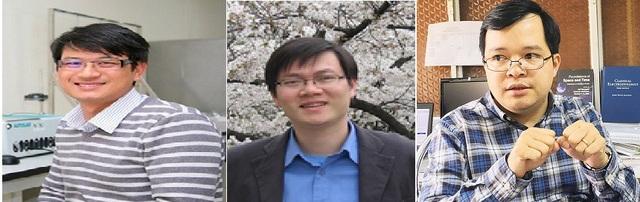 Từ trái sang phải: TS Trần Đình Phong, PGS.TS Phạm Văn Hùng, TS Đỗ Quốc Tuấn.