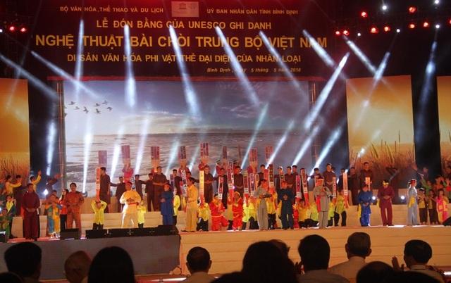 Nghệ thuật Bài Chòi Trung Bộ Việt Nam là di sản văn hóa phi vật thể thứ 12 được UNESCO ghi danh.