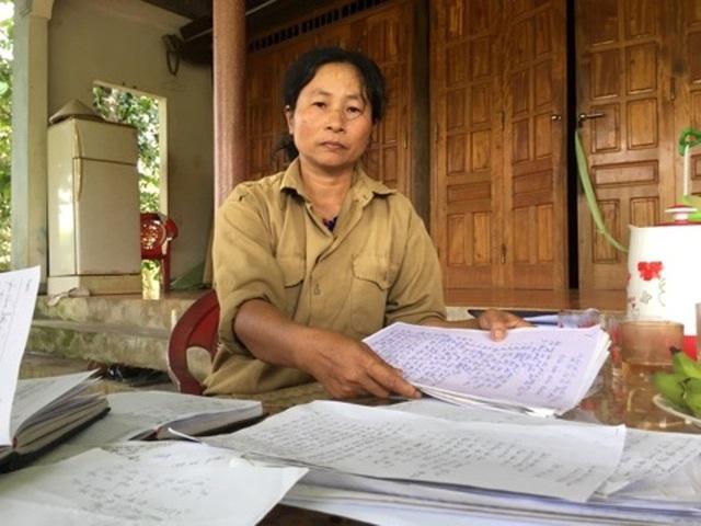 Gia đình bà Chiến đã gửi đơn đến các cơ quan chức năng nhưng suốt 10 năm vẫn không giải quyết xong
