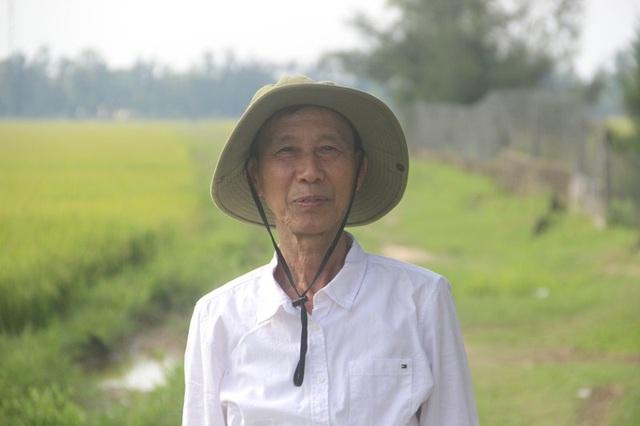 Cựu binh Nguyễn Xuân Dòng đi trên cánh đồng, nơi xảy ra cuộc chiến ác liệt 50 năm trước