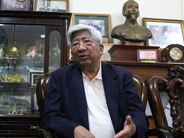 Nguyên Chủ tịch UB Trung ương MTTQ Việt Nam Phạm Thế Duyệt: Tôi nói với Tổng Bí thư, vai quan trọng nhất của anh bây giờ là phải lo đội ngũ cán bộ cho Đảng, chẩn bị cho Đại hội XIII tới đây (ảnh: Trần Thanh)