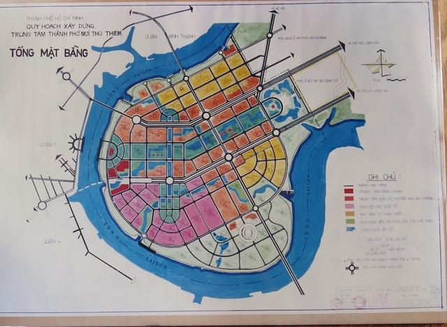 Bản đồ quy hoạch TPHCM được ông Võ Viết Thanh trình bày với cố Thủ tướng Võ Văn Kiệt