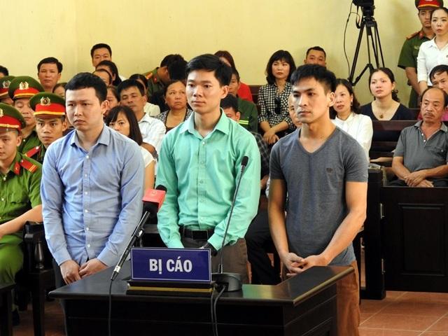3 bị cáo tại phiên xử sáng nay
