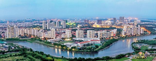 Đến nay, khu Nam Sài Gòn thay đổi hoàn toàn diện mạo và đời sống an sinh xã hội cũng từng ngày một nâng cao.