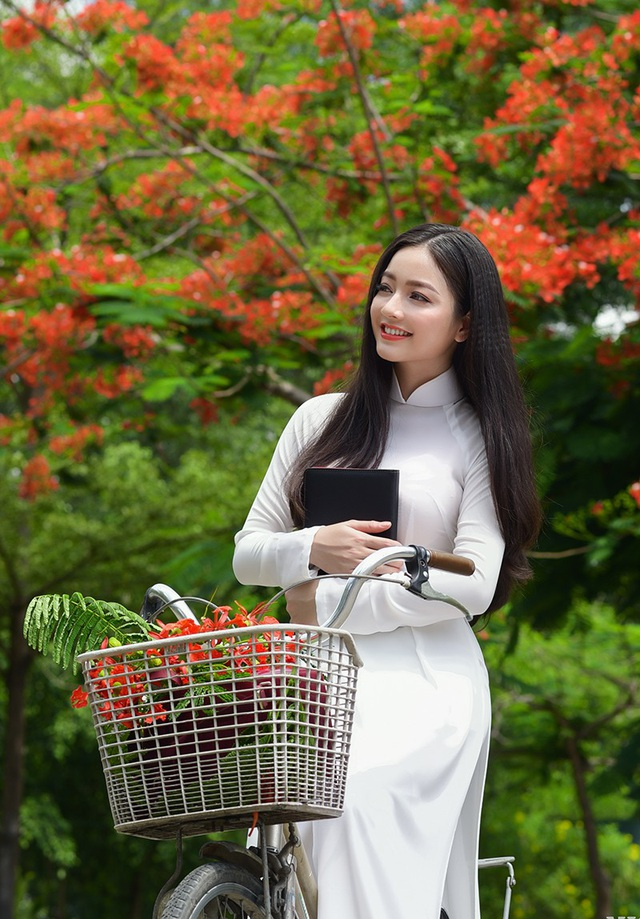 Xao xuyến tà áo trắng nữ sinh khi mùa phượng vĩ về - 9