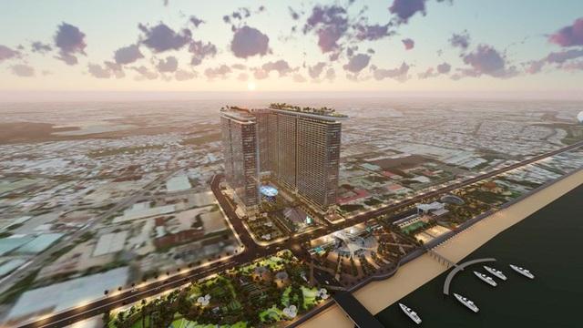 Integrated Resort, mô hình nghỉ dưỡng phức hợp đẳng cấp 5 sao đang là xu hướng trên thế giới. (Ảnh phối cảnh dự án Sunshine Marina Nha Trang Bay)