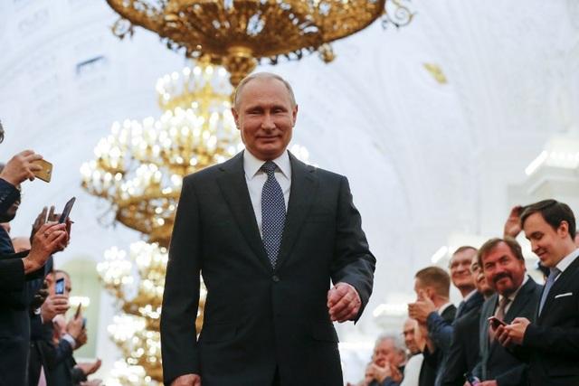 Tổng thống Putin trong lễ nhậm chức tại Điện Kremlin ngày 7/5 (Ảnh: Reuters)