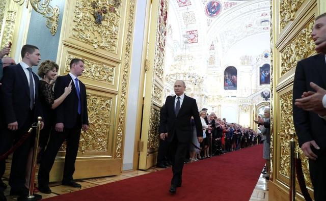 Tranh cử với tư cách ứng viên độc lập, ông Putin đã giành chiến thắng áp đảo trong cuộc bầu cử Nga hồi tháng 3.