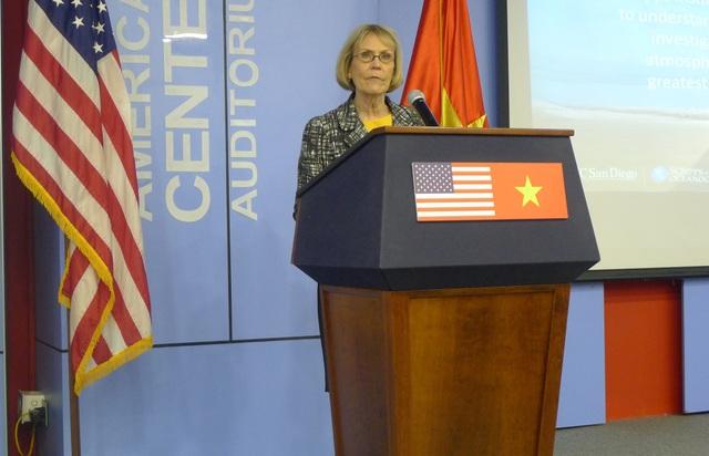 Tiến sĩ Margaret Leinen tại hội thảo ngày 7/5 (Ảnh: Minh Phương)