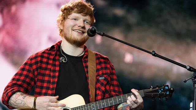 Nam ca sĩ trẻ Ed Sheeran (27 tuổi)