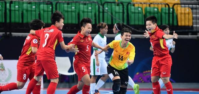 Thắng Indonesia, đội tuyển futsal nữ Việt Nam vào bán kết giải châu Á