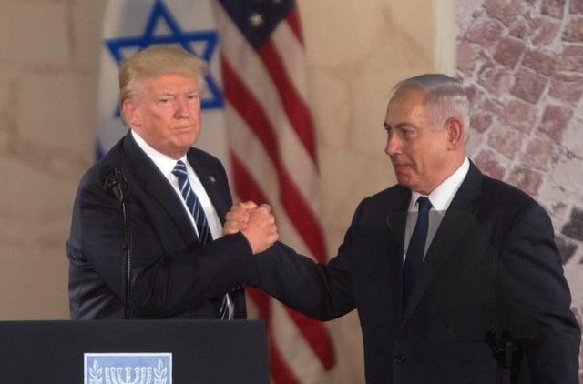 Tổng thống Mỹ Donald Trump và Thủ tướng Israel Benjamin Netanyahu (Ảnh: Getty)