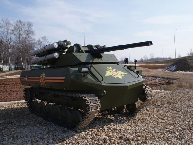 Xe chiến đấu Uran-9 (Ảnh: BI)