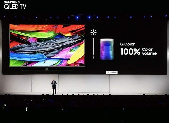 Khả năng hiển thị 100% màu sắc DCI-P3 vẫn là một điểm cộng rất lớn của TV QLED 2018 so với các đối thủ.