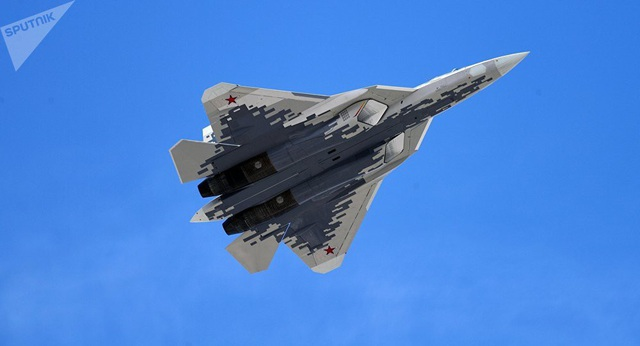 Máy bay chiến đấu Su-57 (Ảnh: Sputnik)