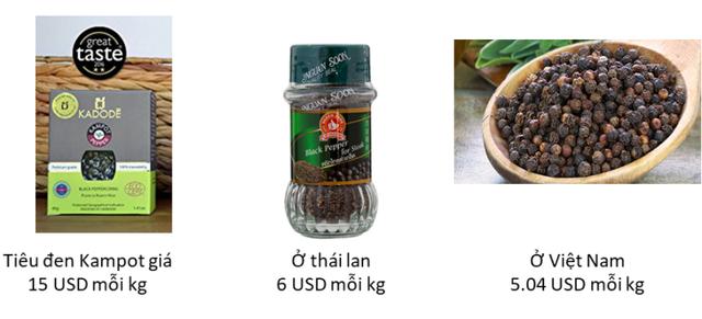 Tiêu Việt Nam chỉ có giá bằng 1/3 so với tiêu Campuchia.