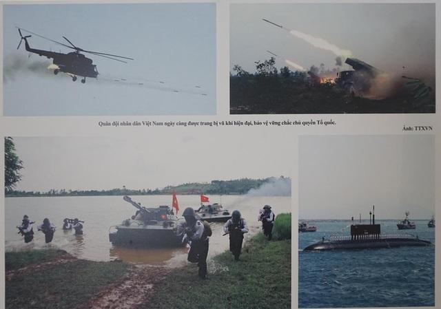 Quân đội Nhân dân Việt Nam ngày càng được trang bị vũ khí hiện đại bảo vệ vững chắc chủ quyền Tổ quốc. (Ảnh: TTXVN).