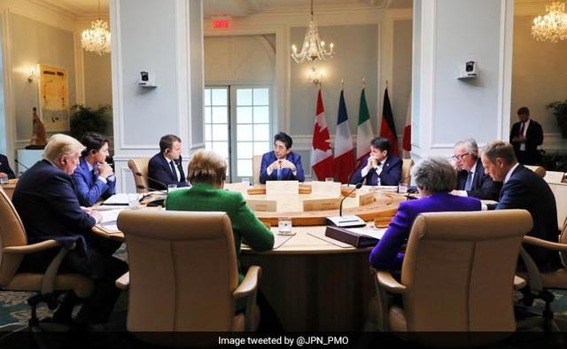 Bức ảnh do Canada công bố chụp cuộc họp của các nhà lãnh đạo (Ảnh: NDTV)