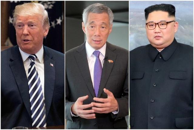 Tổng thống Mỹ Donald Trump và nhà lãnh đạo Triều Tiên sẽ có các cuộc gặp riêng với Thủ tướng Singapore Lý Hiển Long. (Ảnh: AFP)