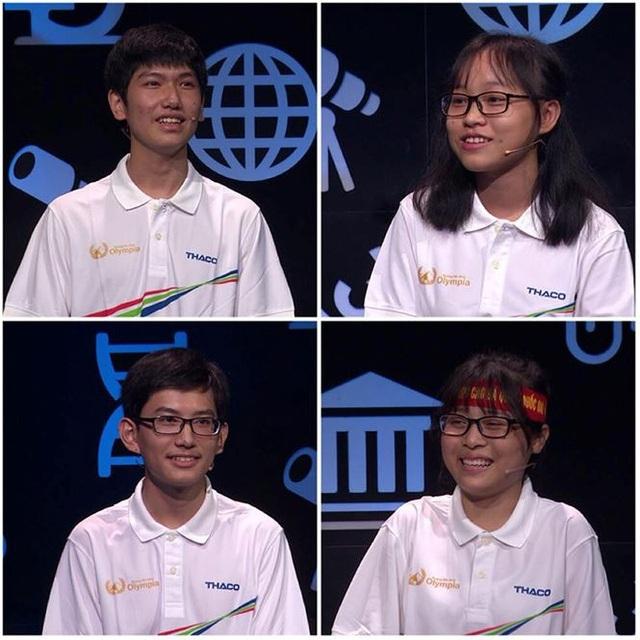 4 thí sinh trong cuộc thi Tuần 2 Tháng 1 Quý 4