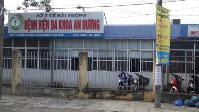 Bệnh viện Đa khoa An Dương, nơi xảy ra vụ việc (ảnh CTV)