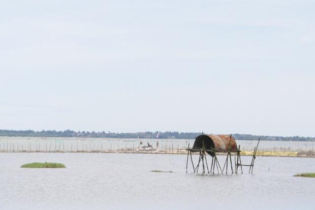 Từ TP Huế đi về xã Phú Xuân, huyện Phú Vang mất khoảng 20 cây số, chúng ta gặp ngay những đầm phá rộng lớn, phía trên là những nhà chồ - là nơi ngư dân trú ngụ để đánh bắt thủy hải sản