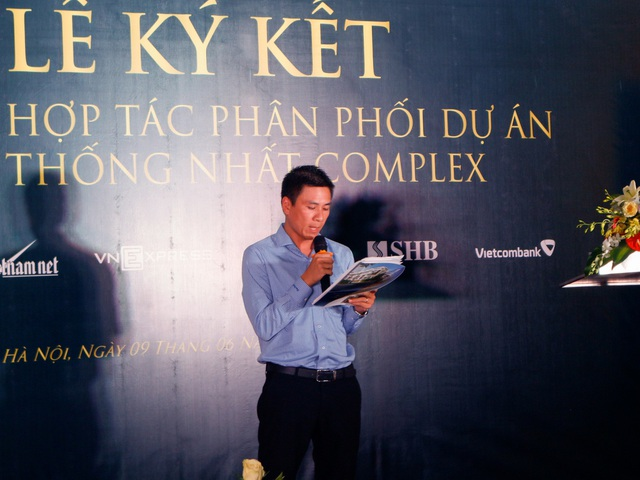 Đại diện CĐT Thống Nhất Bắc Việt phát biểu tại buổi lễ.