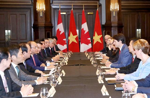 Cuộc hội đàm giữa Người đứng đầu hai Chính phủ Việt Nam - Canada, ngày 10/6