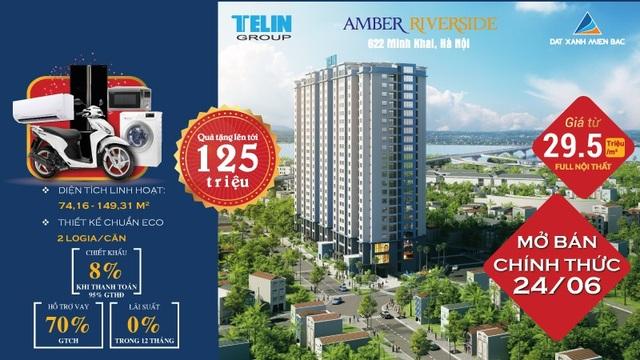 Chính sách bán hàng hấp dẫn là điểm nhấn thu hút khách hàng quan tâm dự án Amber Riverside