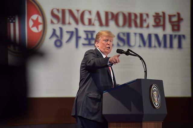 Tổng thống Mỹ Donald Trump (Ảnh: Straits Times)