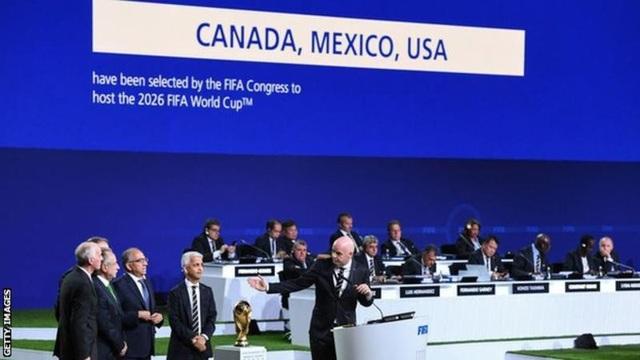 Ba nước Mỹ, Canada và Mexico được chọn là chủ nhà World cup 2026