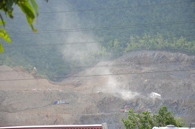 Mỏ đá Khe Cuồi nổ mìn gây ôm nhiễm môi trường