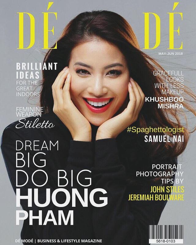 Phạm Hương xuất hiện đầy rạng rỡ trên bìa tạp chí Dé Modé.