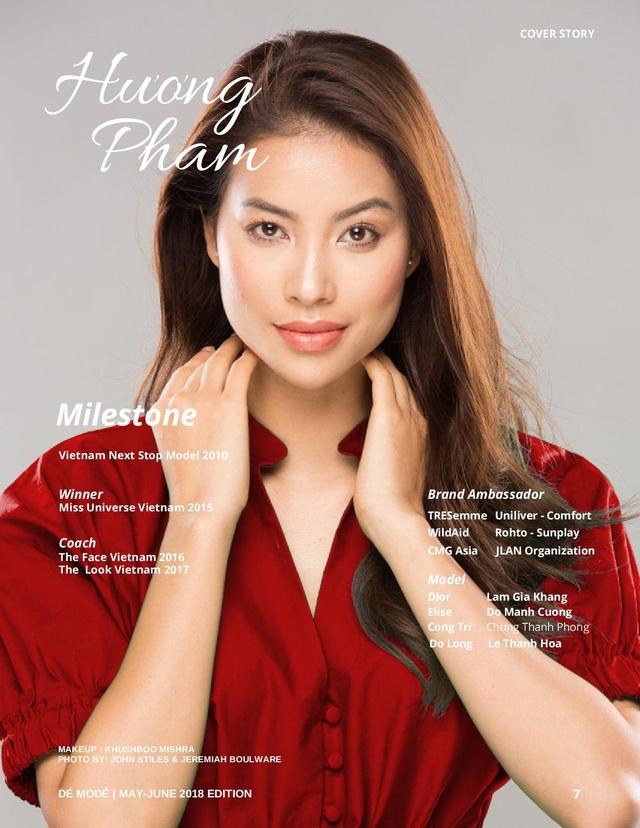 Tạp chí này dành hẳn 4 trang để giới thiệu về Hoa hậu Hoàn vũ Việt Nam 2015.