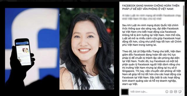 Thông tin Facebook đặt văn phòng ở Việt Nam là giả mạo
